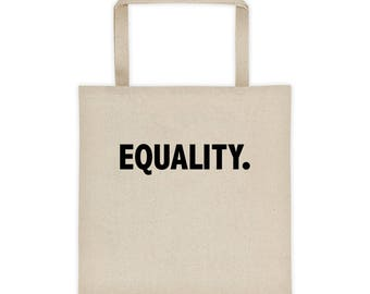 Equality Tote Bag | Equality Grocery Bag|  Peace, Love, Unity, Equal Rights For All. Pride And Equal Rights Tote bag