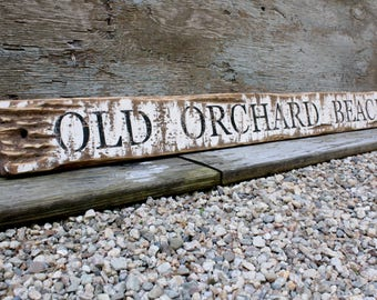 Old Orchard Beach Maine Wood Sign Beach Decor Rustic Wood Sign Coastal Decor 48""