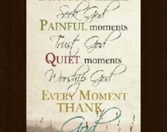 Happy Moments Praise God Inspirational Religious Beige Neutral Print Picture Framed Art