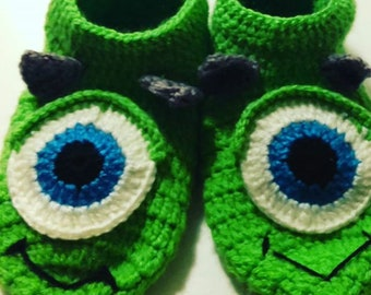 Monster S. A Crochet Booties