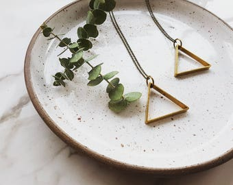 Matty Necklace  |  Triangle pendant
