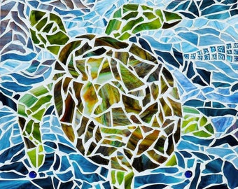 Stained Glass Mosaic Square