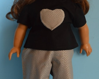 """18 Inch Doll Outfit - Pants and Top Outfit Made to Fit 18"""" Dolls"""