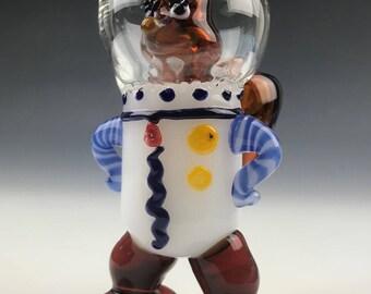 Sponge Squirrel Glass Tobacco Pipe - H*338