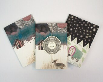 Set of Two Mini Notebooks - Wanderlust Design