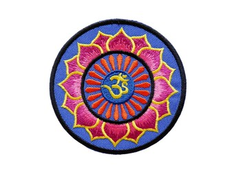 Aum Om Infinity Hindu Hinduism Yoga Embroidered Applique Iron on Patch