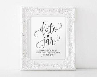 Date Jar Sign, Date Night Sign, Date Jar Ideas, Date Ideas Sign, Date Night Jar, Date Sign, Wedding Sign, PDF Instant Download #BPB203_62