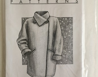 Great Copy 1005 Misses Womens Funnel Collar Serger Coat Size xs s m l  xl  UC FF Sewing Pattern