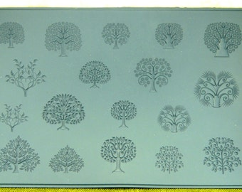 MEGA TREES  of Life Embossed Rubber Stamp Elements for Jewelry Artists