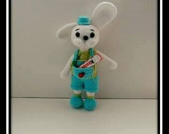Crochet Bunny dad PDF tutorial.