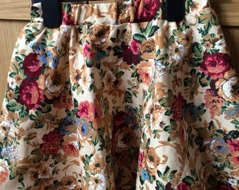 Girls vintage inspired circle skirt age 5 years