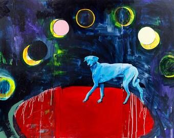 Blue Dog (print)