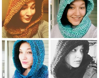Scoodie// hooded scarf// winter scarf//customizable hood :)