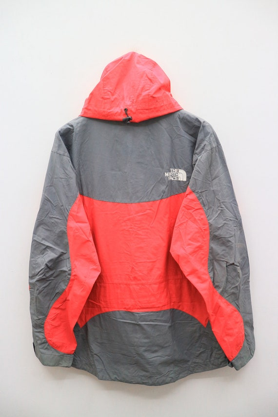 Outdoor FACE Hoodies Red Windbreaker THE Vintage Gray Logo NORTH Small Jacket FEWaX8Oq