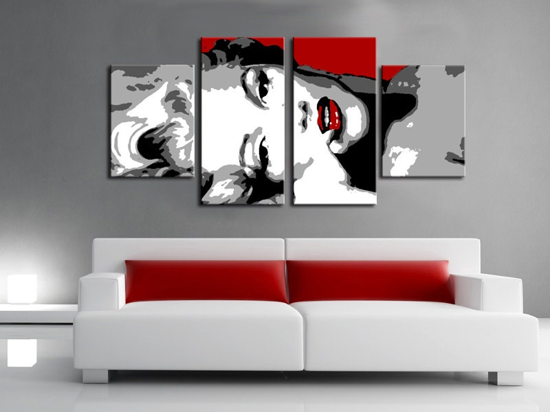 Set 4 quadri moderno marilyn monroe stile pop art dipinto a for Arredamento pop art