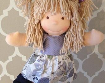 """New Waldorfdoll Waldorf Cloth Doll """"Leni"""" 14"""""""