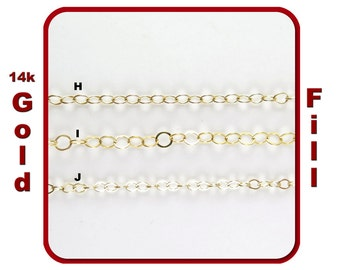 Thick Gold Filled Chain for Customized Necklace, Choker, Bracelet, Anklet Jewelry