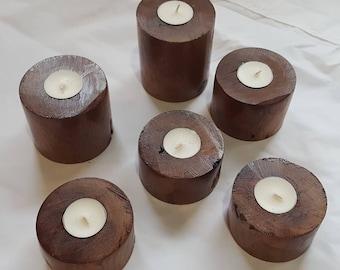 Artisan Mesquite Candlesticks