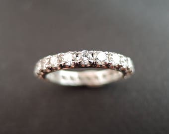 Diamond wedding band.
