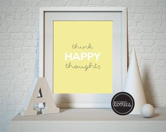 Think Happy Thoughts A5 digital PDF