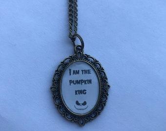 Jack Skellington I Am The Pumpkin King Cameo Necklace