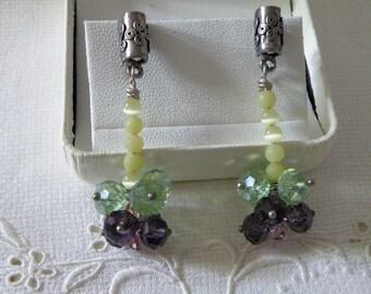 Splashy Dangle Crystal Earrings Sterling Silver