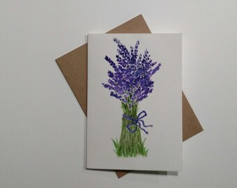 Original Watercolor Lavender Painting/Floral watercolor painting/, Lavender Flowers Painting,/ Watercolor Art