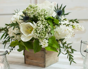 DIY Fresh Flower Centerpiece Kit - Rustic Elegance