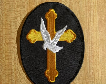 Cross and Dove Patch