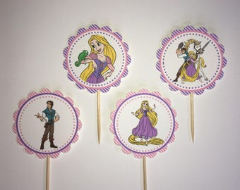 Rapunzel Tangled -12 cupcake toppers