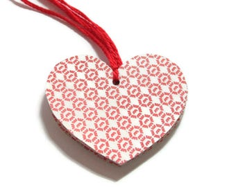 Recycled paper heart tags (Set of 4)