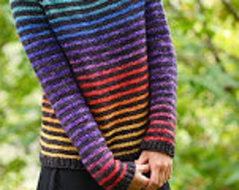 Rainbow Trail Sweater Yarn Pack Kit by Cristina Ghirlanda - Size: 2XL, dyed to order