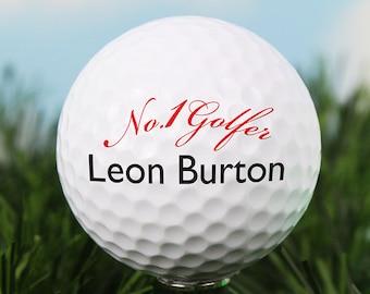 Personalised No1 Golfer Golf Ball