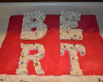 Pearled Decorative Letters, Thicker Designs