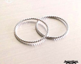 RING - Sterling Silver twisted Ring Rope ring (Handmade) by AwesoMore
