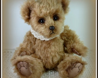 Lucy Lue - Teddy Bear, Handmade, Artist Bear, Stuffed Animal, Mohair, Toy, OOAK, Made In Alaska, Collectible