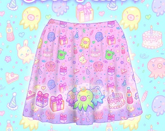"Pink ""OctoParty"" Skirt"