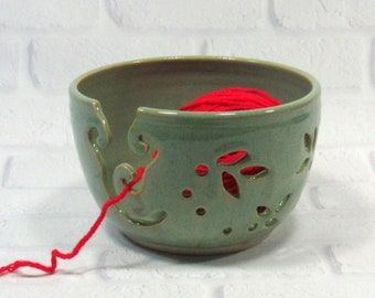 Yarn Bowl - Knitting Bowl - Pottery Yarn Bowl - Ceramic Yarn Bowl - Crochet Bowl - Yarn Holder - Bowl for Knitters - Yarn Keeper