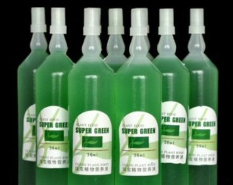 20 Bottles of Super Green Green Lucky Bamboo Fertilizer Plant Food  (FREE SHIPPING)