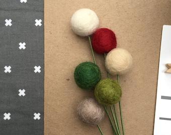 Pom Cluster | Country Christmas Pom Flower Bouquet