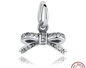 Sparkling Bow Knot Charm
