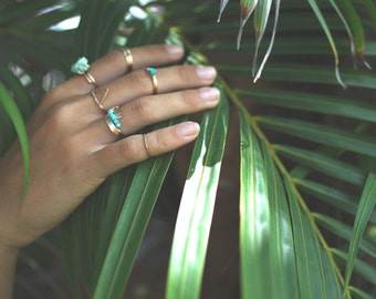 gold filled simple triangle ring