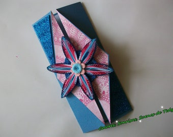 Floral folding card, Folded Birthday card, 3D handmade Floral card, Quilling Greeting card, Card for her, Congratulation Paper card
