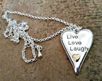 Live Love Laugh Necklace - SALE