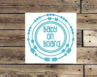 Baby on board decal | baby on board car decal | baby on board sticker | mom car decal | arrows decal | baby decal | window decal |
