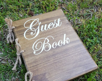 Wooden Guest Book...Bridal Shower, Wedding, Party, and more.
