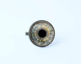 Eyeball ring Grey eye ring Eye ring Eyeball jewelry Human eyeball Eye jewelry Ophthalmologist gift Anatomy jewelry Human eye ring Eye pupil