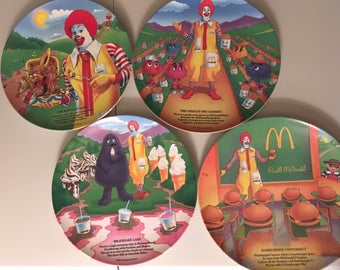 McDonalds Pair of Plate Sets from 1989 and 1993