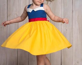 Twirl dress,Disney Princess Dress,Disney Cosplay,Disney Baby,Snow White costume,Girls disney outfit,Disney Dress,Dress up costume,Princess