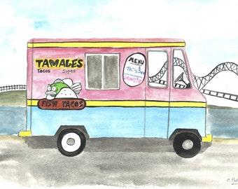 Memphis Food Trucks Set of 12 Notecards